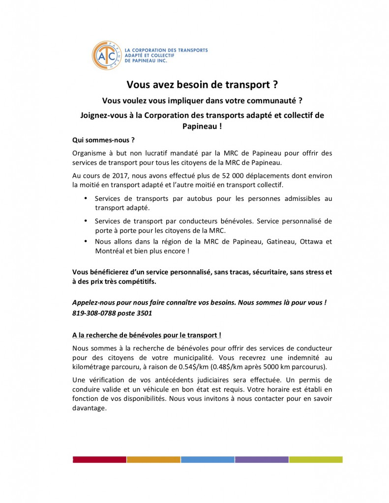 Transport adapte 2018
