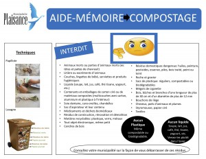 Aide-memoire pour le composte
