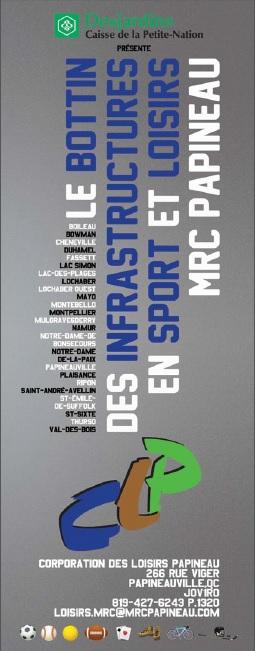 Le bottin des infrastructures en sport et loisirs MRC Papineau